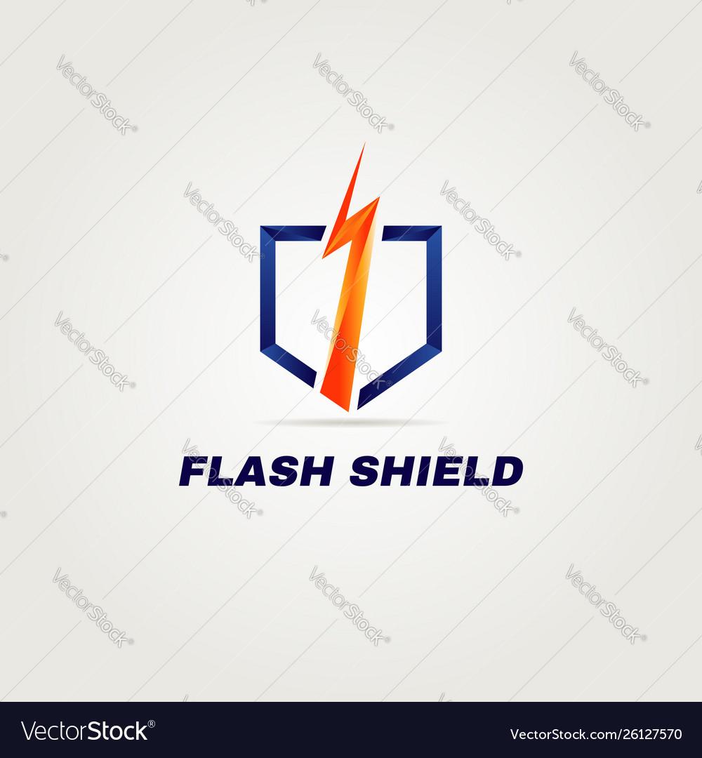Clean bright thunderbolt logo template