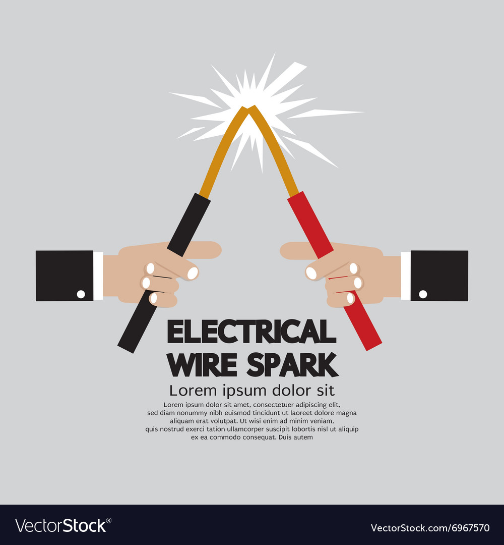 Electrical Wire Spark Royalty Free Vector Image