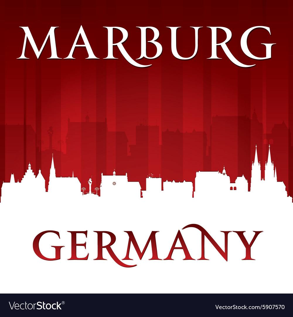 Marburg Germany city skyline silhouette