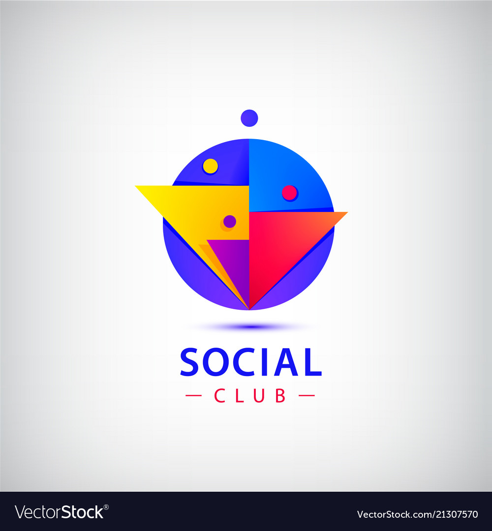 People group logo social net club