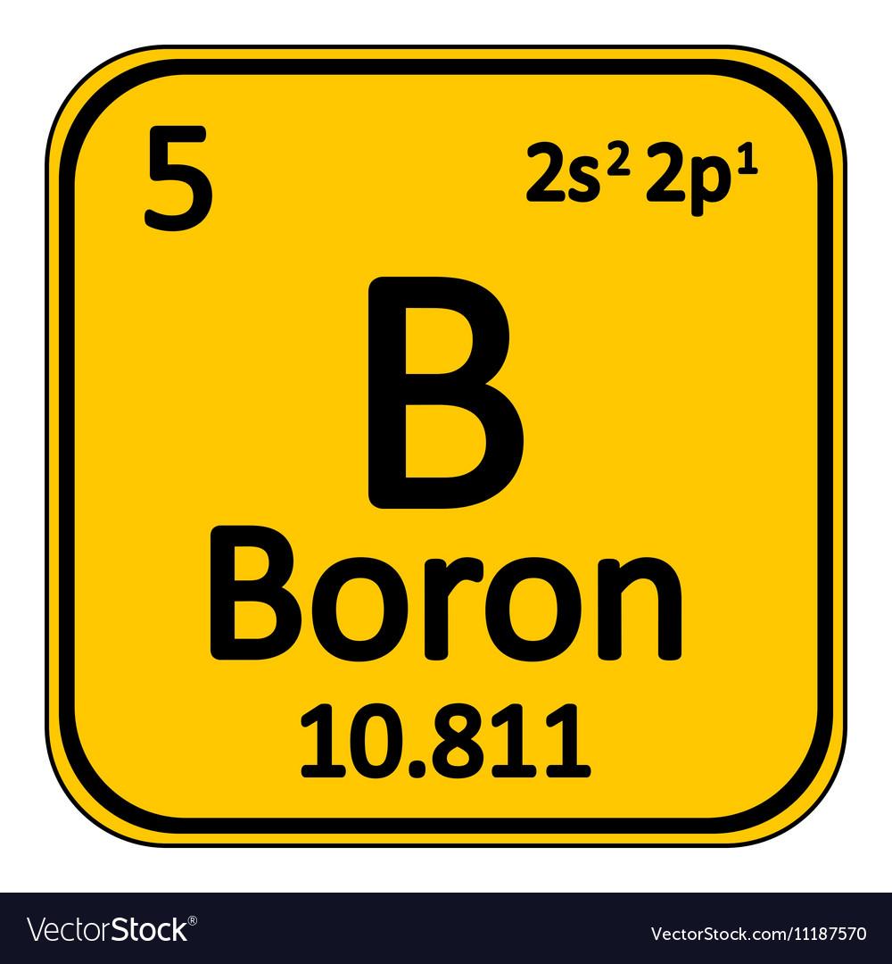 Periodic table element boron icon royalty free vector image periodic table element boron icon vector image urtaz Image collections