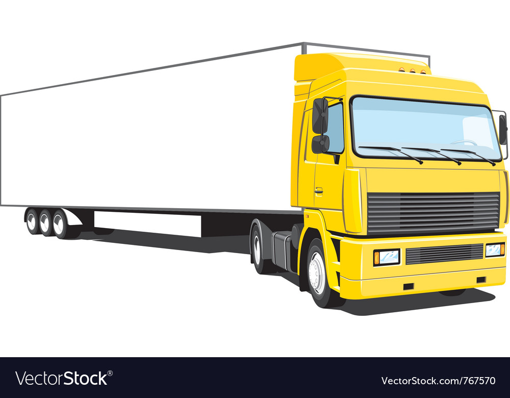 semi truck royalty free vector image vectorstock rh vectorstock com truck vector free truck vector blue print