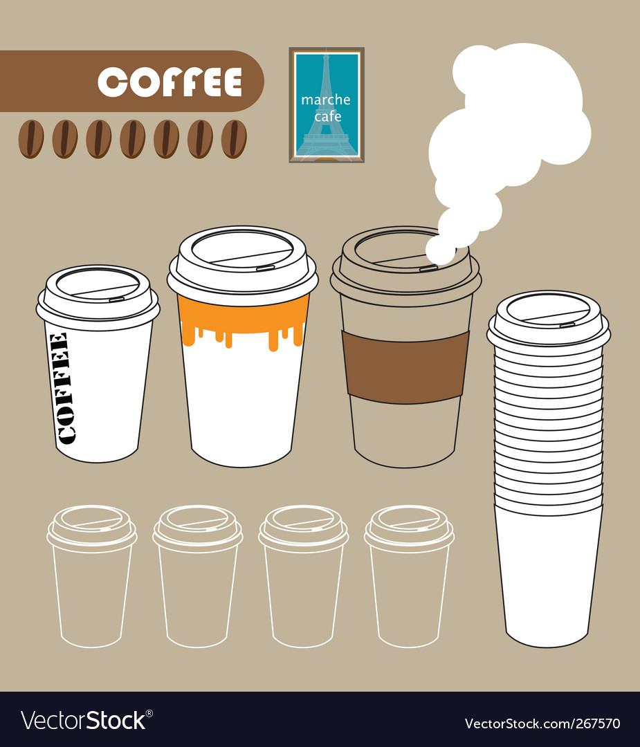 Series of paper coffee cup