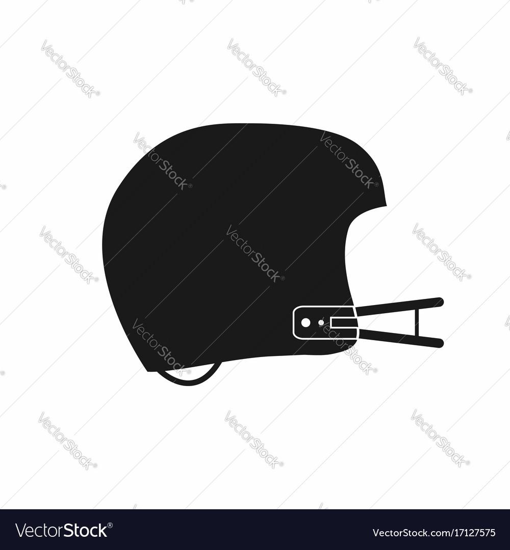 American football helmet icon simple monochrome