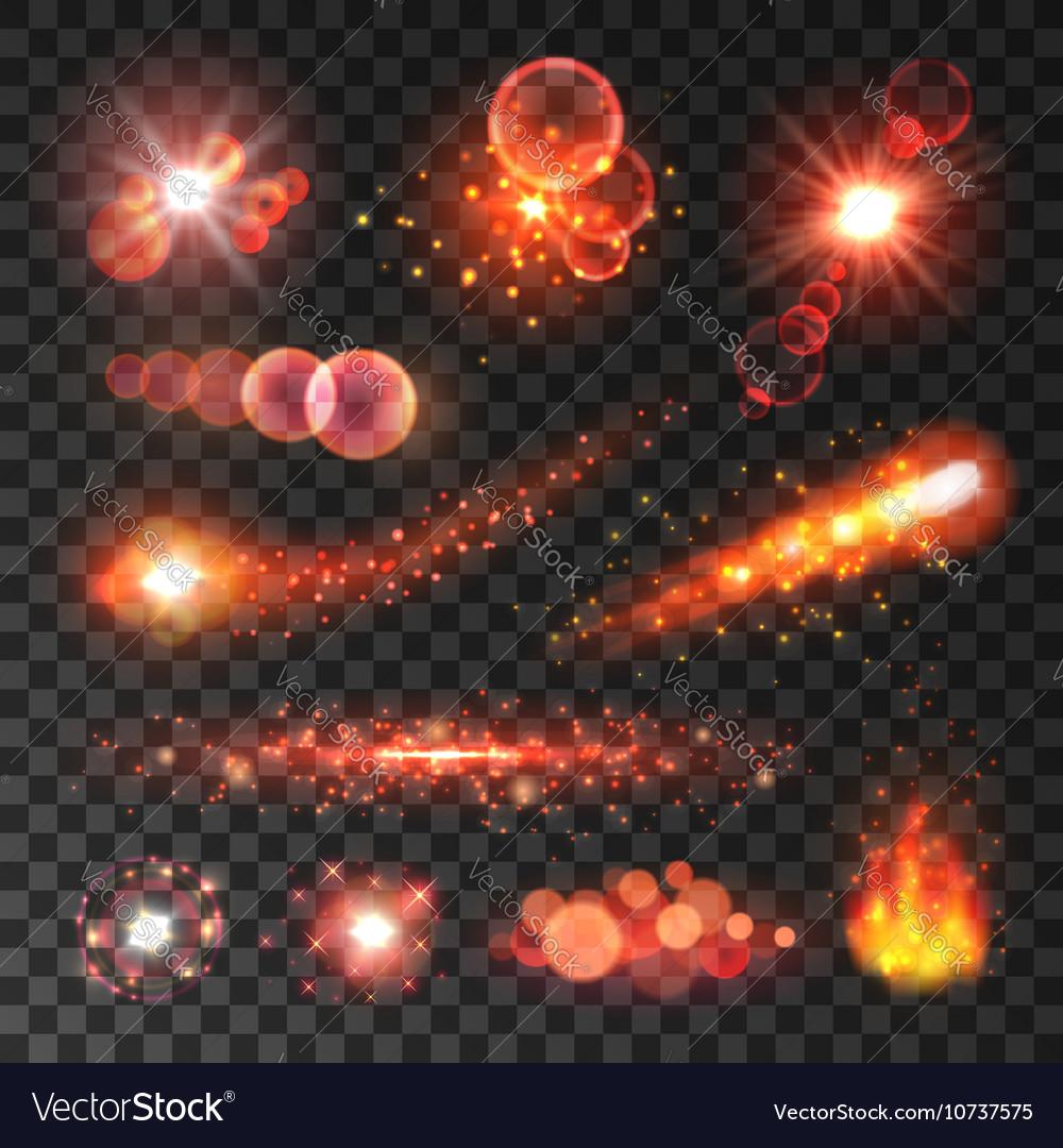 comet lighting. Comet Tails Shooting Stars Flaming Fire Vector Image Comet Lighting I