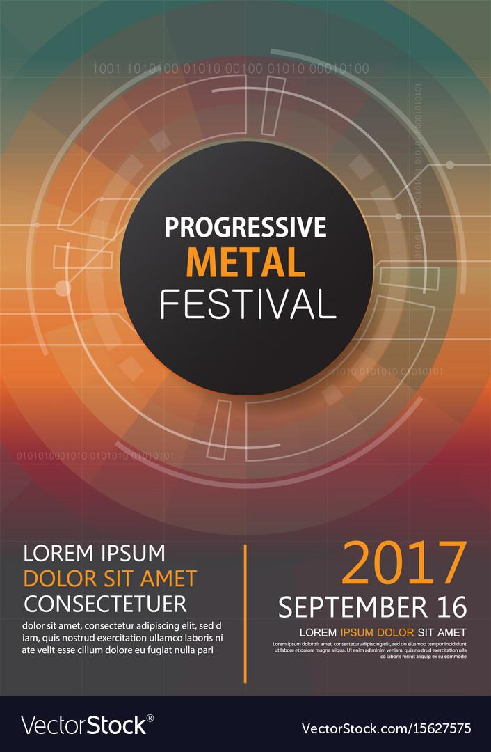Progressive metal festival concert invitation