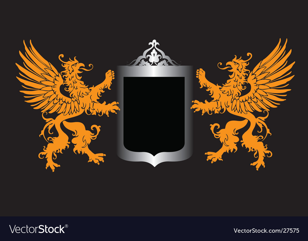 Retro royal shield