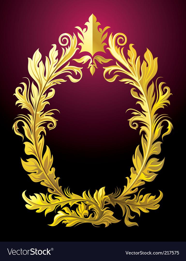Rococo frame vector image
