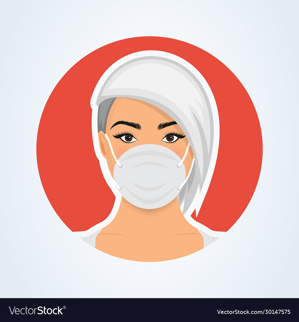 Young woman with medicine health care mask