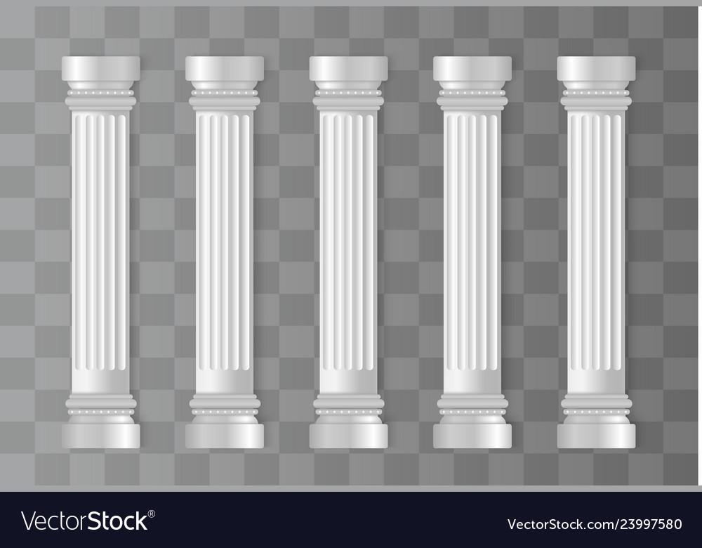 Antique white columns