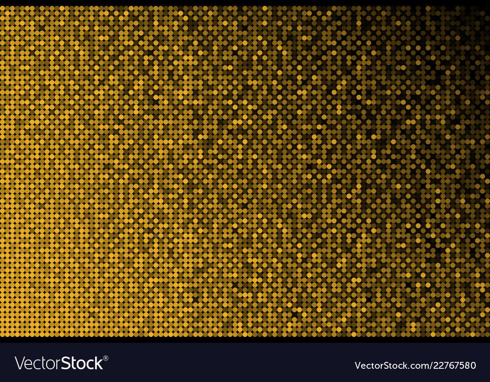 Banner gold sequins glitter sparkle stars glow