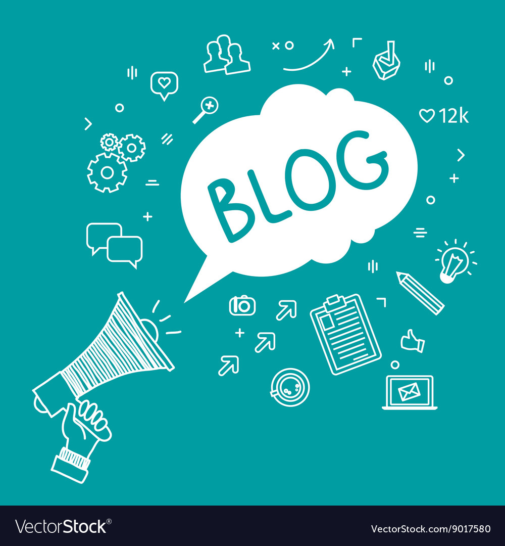 Concept of blogging vector image