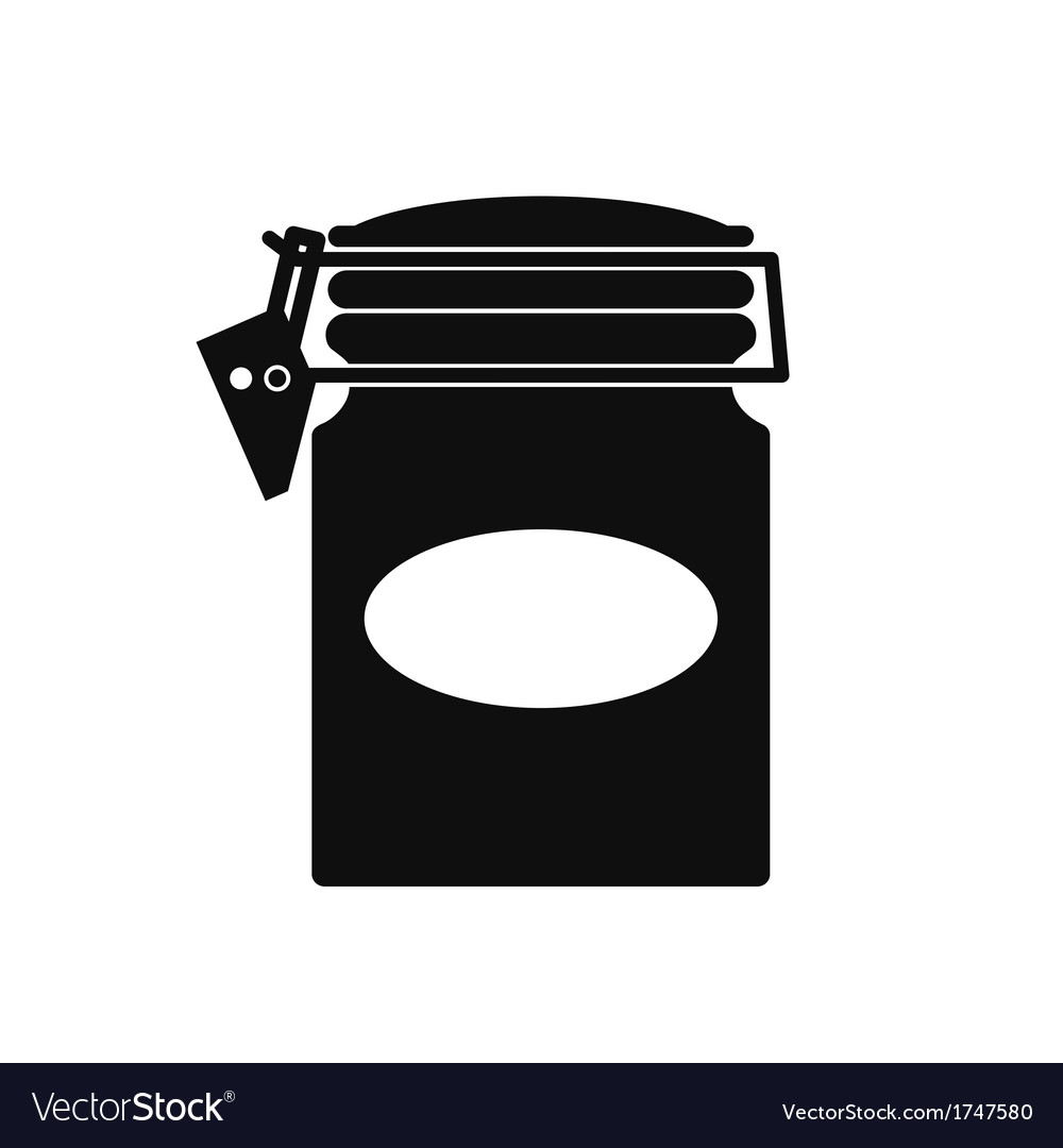 Jar With a Hasp vector image