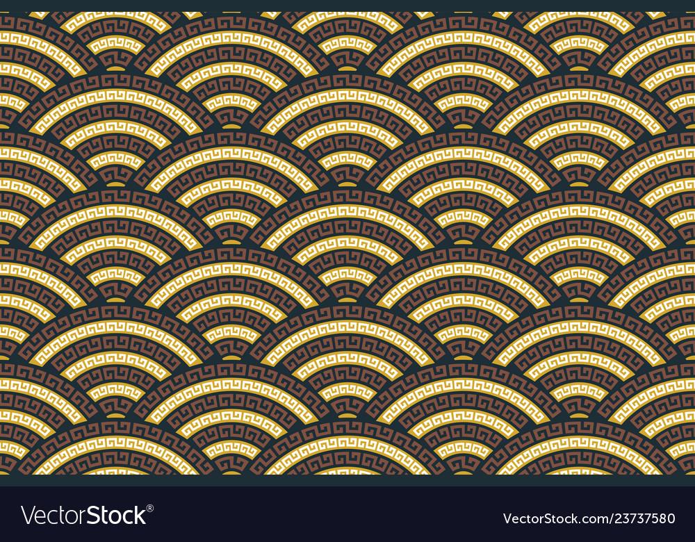 Seamless traditional asian ornamental motive