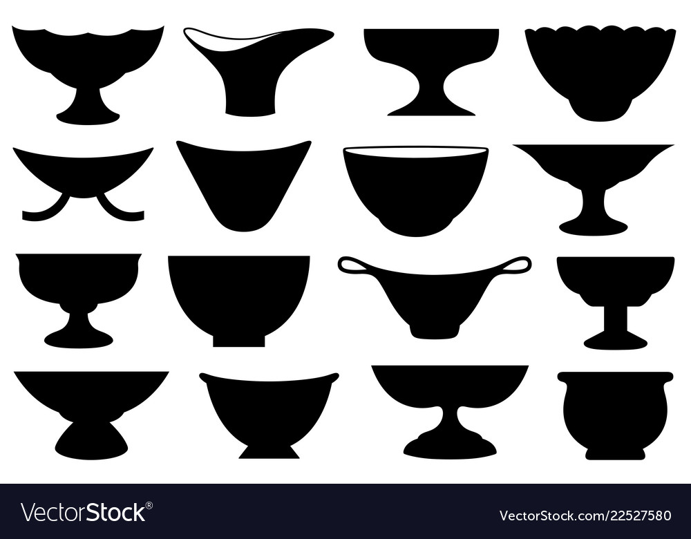 Set different bowls