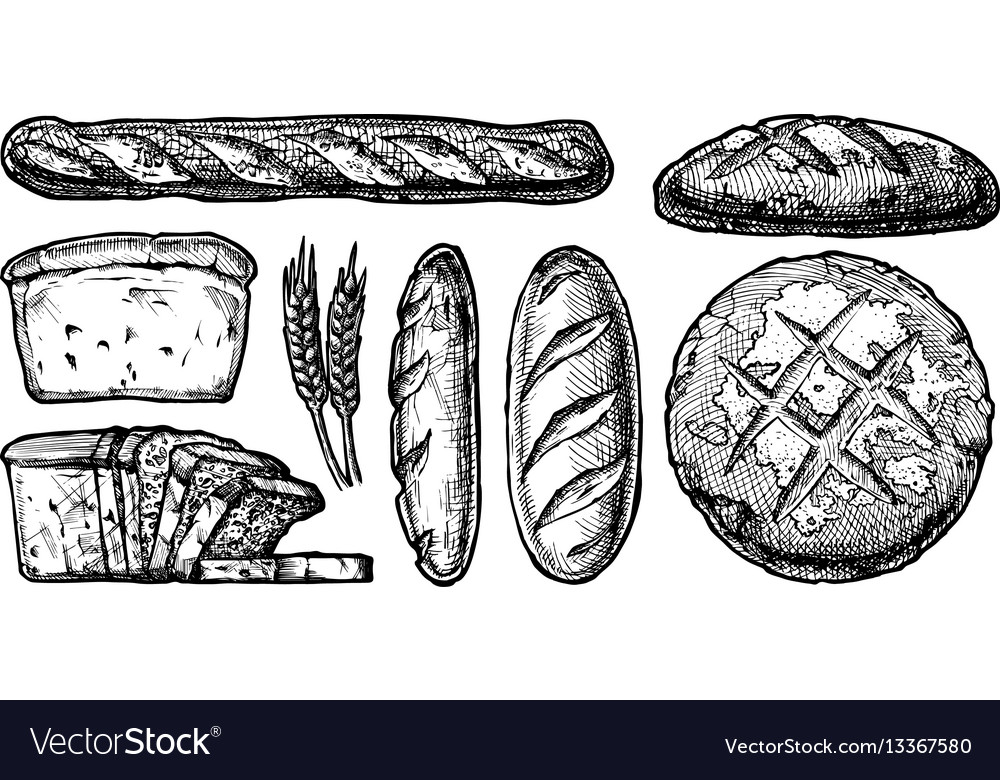 Set different breads