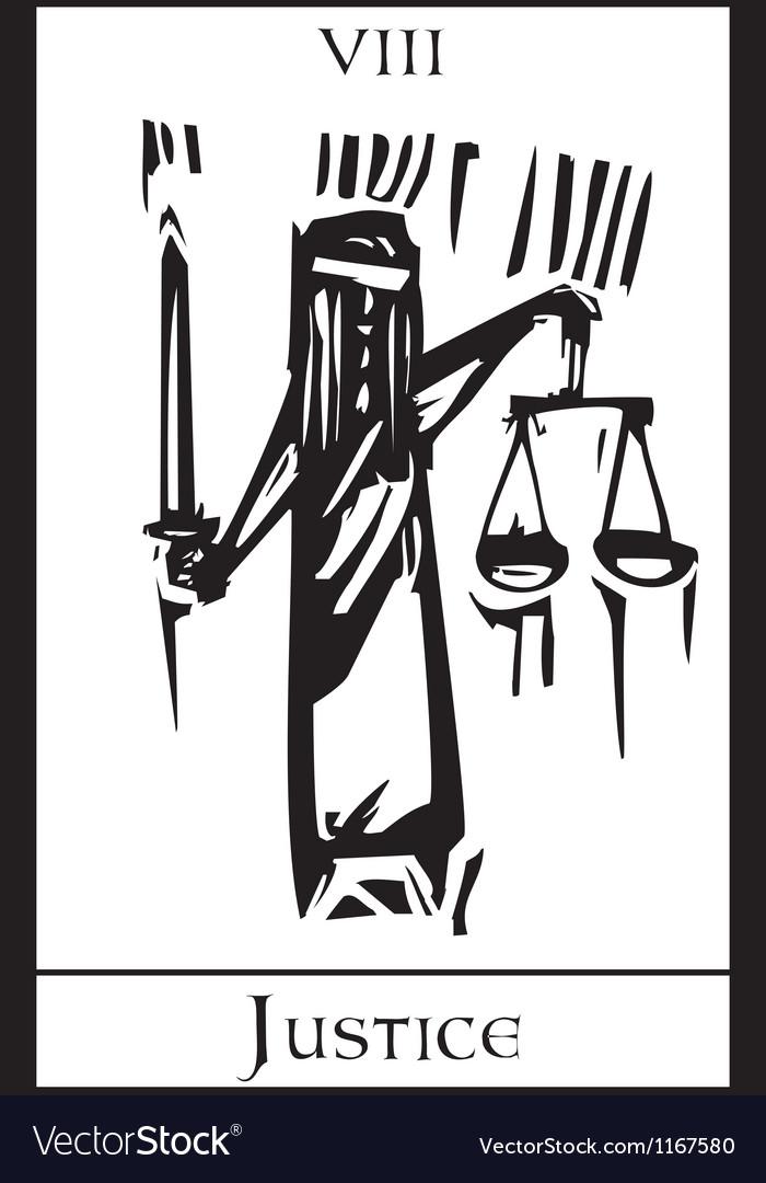 Tarot Card Justice vector image