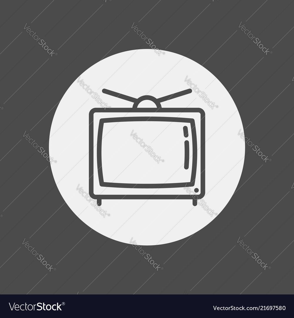 Television icon sign symbol