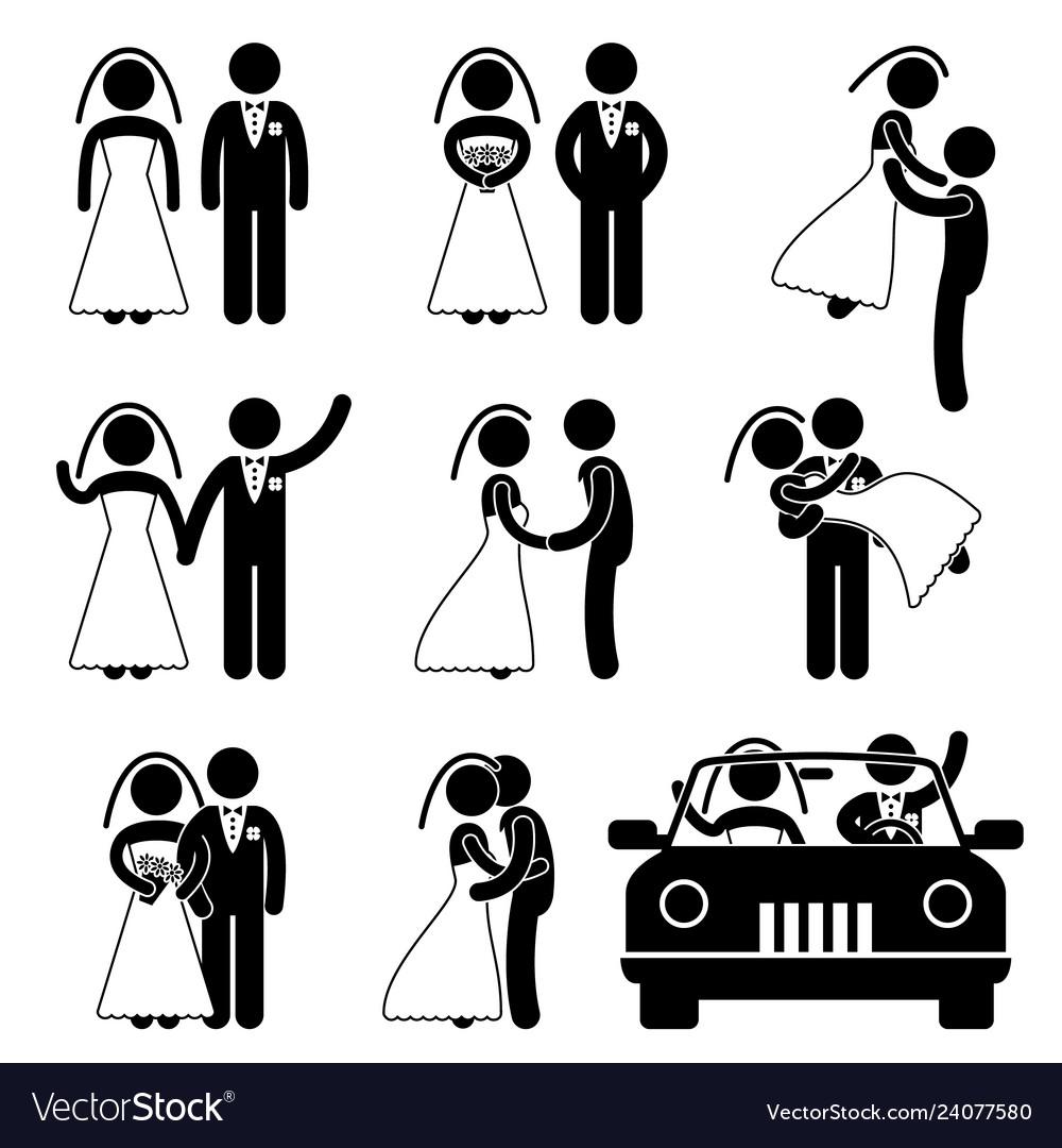 Wedding bride bridegroom married marry marriage a