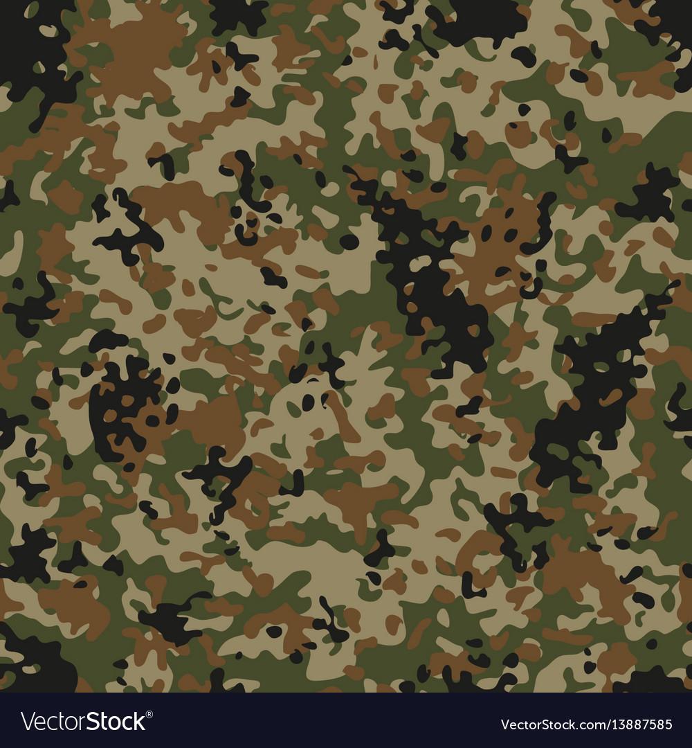 Autumn flectarn camouflage seamless patterns vector image