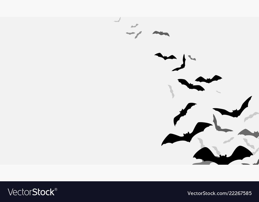 Halloween flying bats background creepy