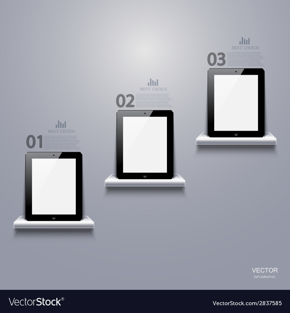 Modern computer tablet infographic