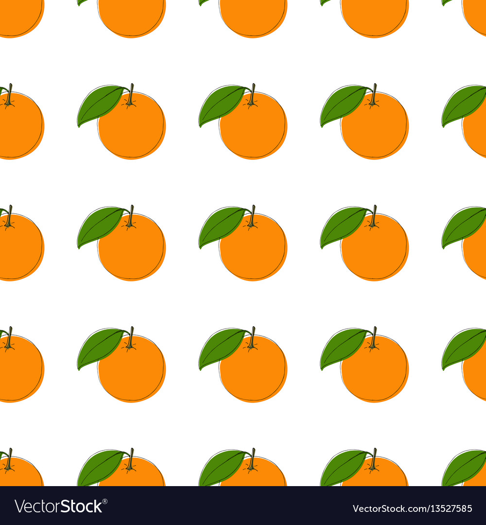 Seamless pattern background with hand drawn vector image