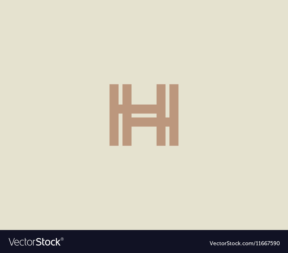 Abstract letter H logo design template Colorful vector image