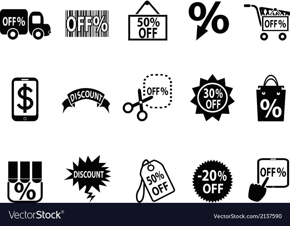 Black discount icons set