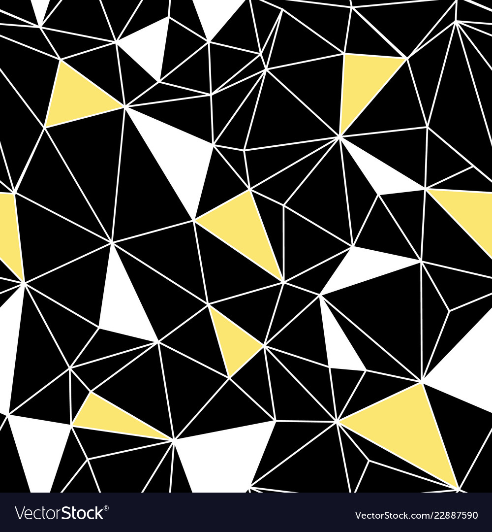 Black yellow network web texture seamless pattern