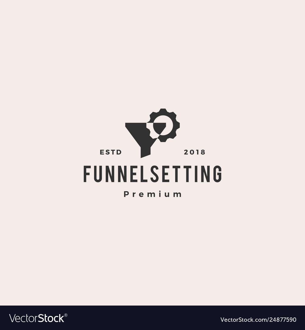 Funneling setting logo icon