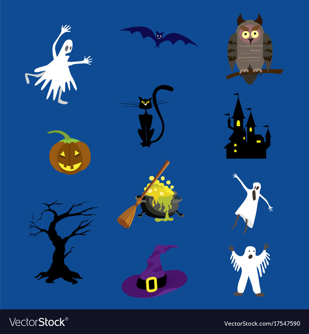 Halloween icons set for your