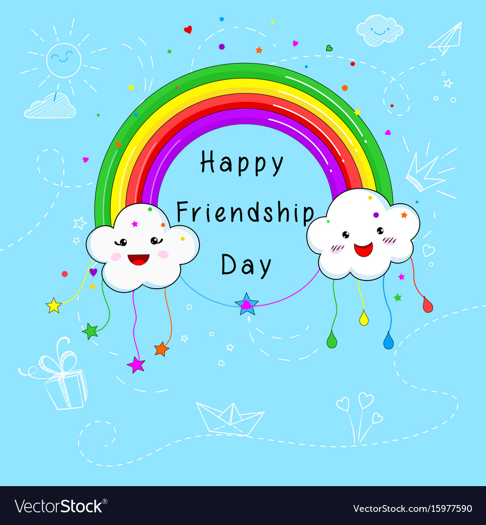 Happy friendship day card design