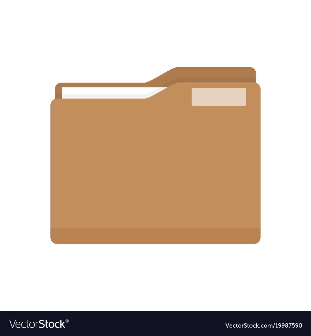 Manila folder with document