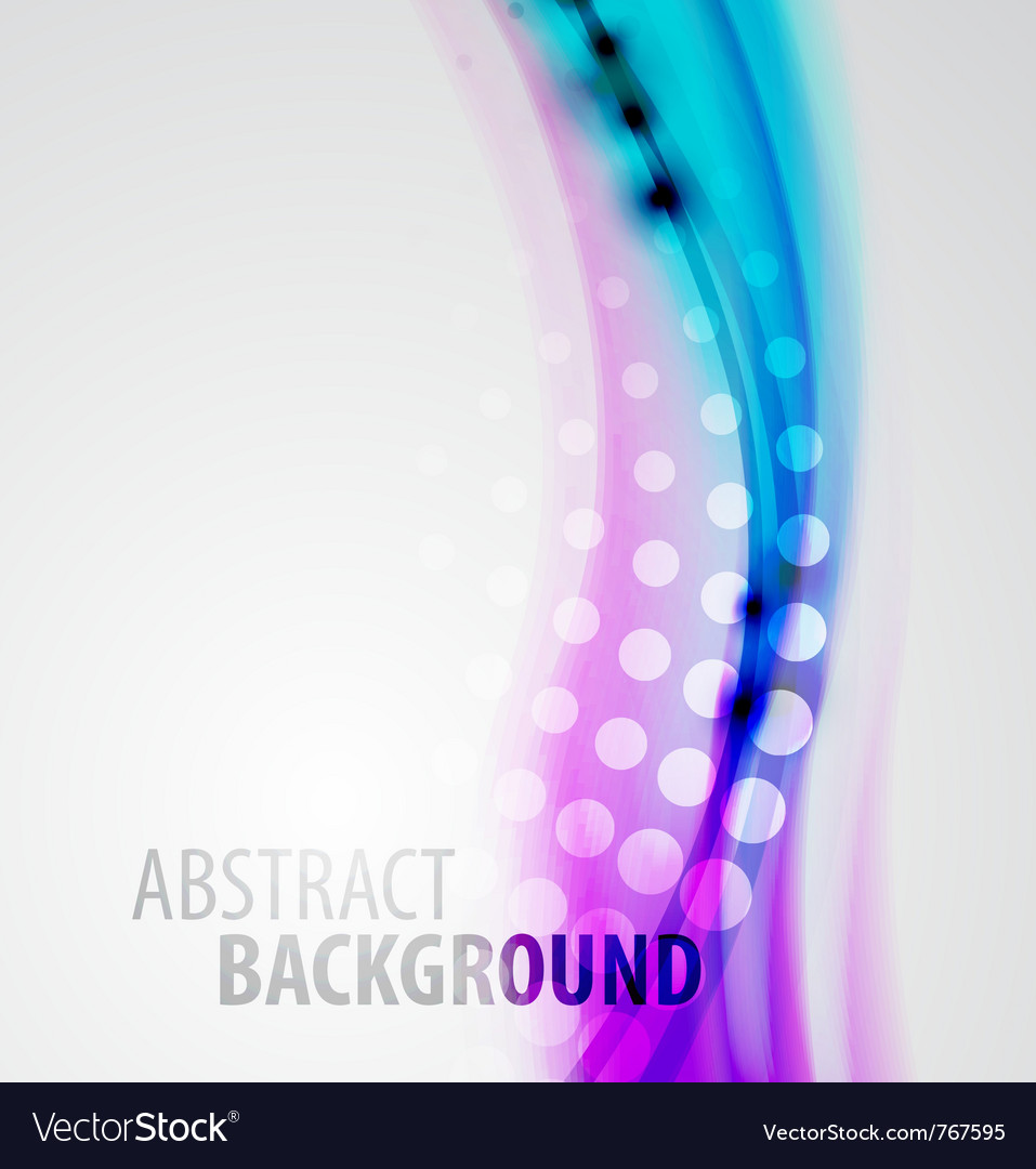 Abstract blur waves background vector image