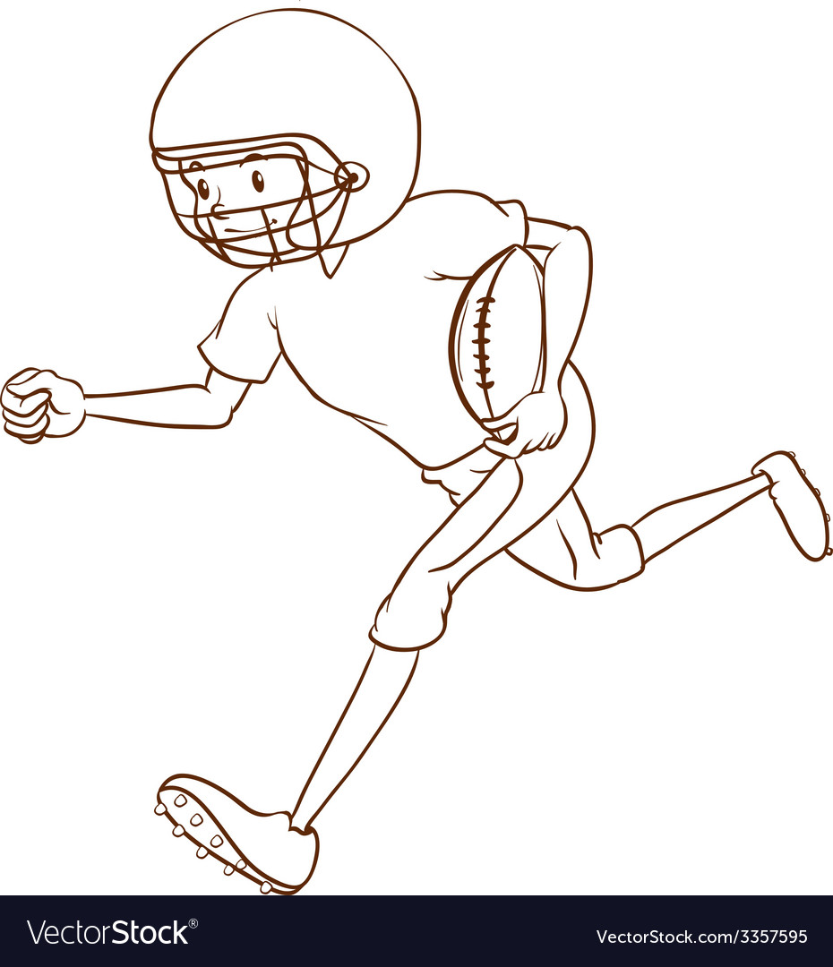 An American football athlete