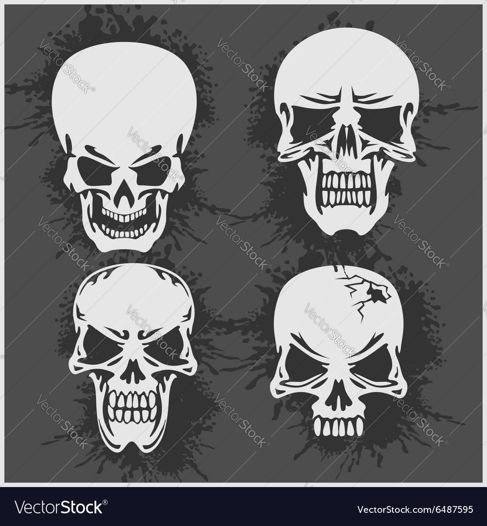 Cartoon skulls design