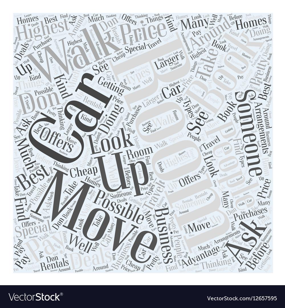Cheap car rentals Word Cloud Concept vector image