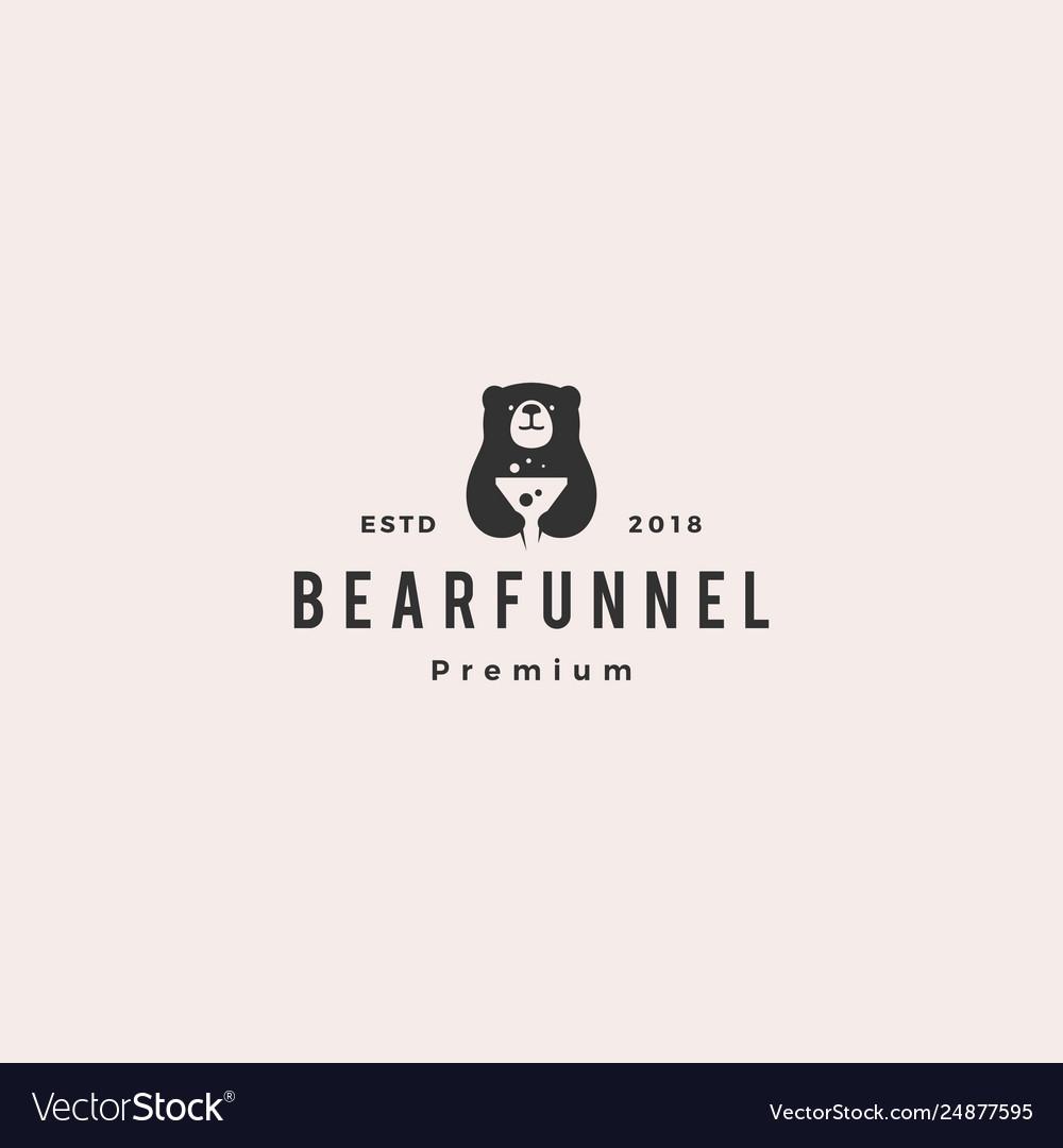 Funneling bear logo icon