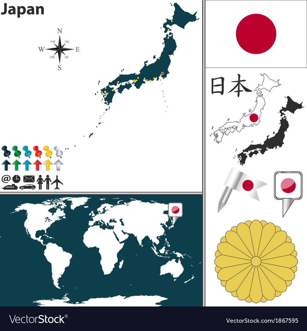 Japan map world