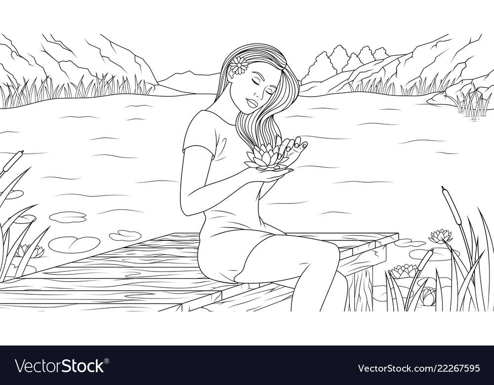 Lovely girl on the beach