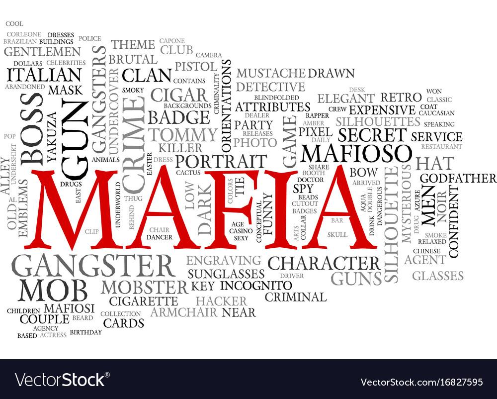 Mafia word cloud concept