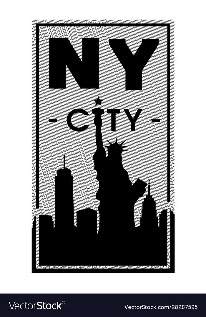 New york city t-shirt graphics