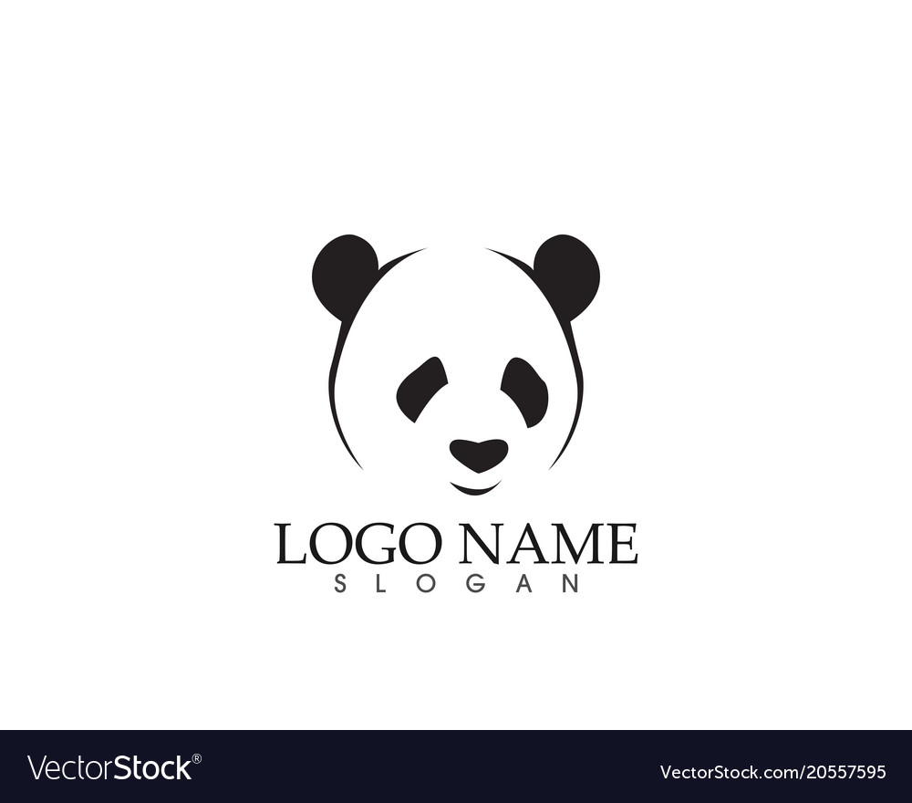 panda logo and symbols template icons app vector image