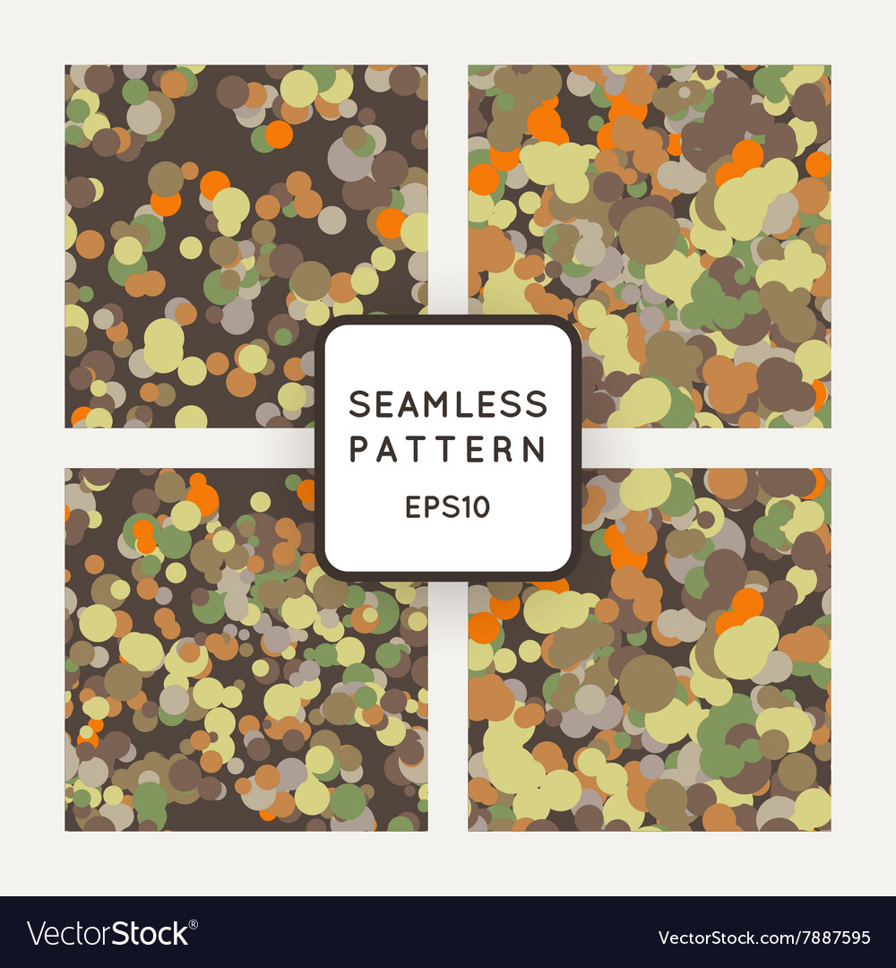 Set of seamless pattern of chaotic spots