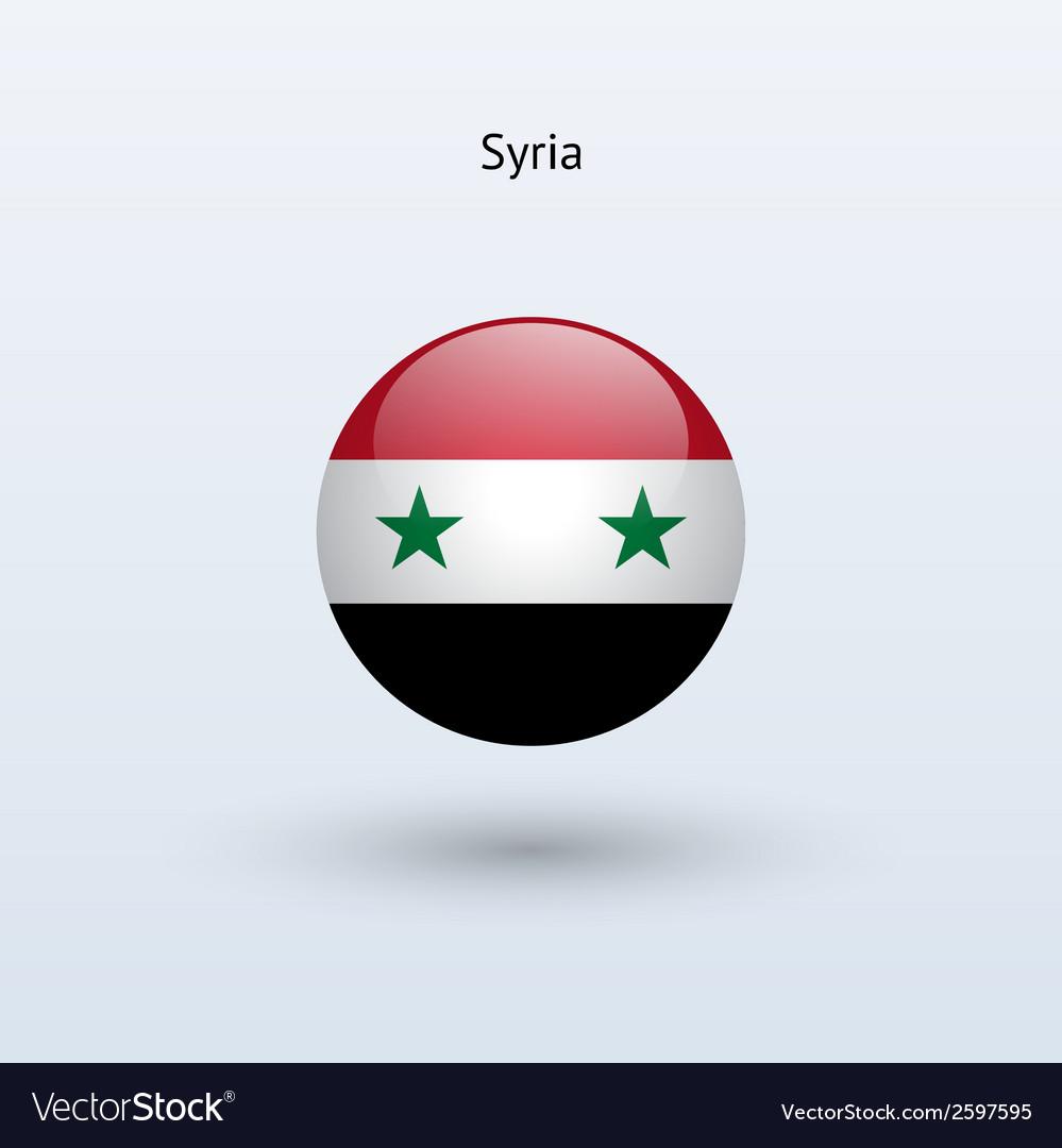 Syria round flag