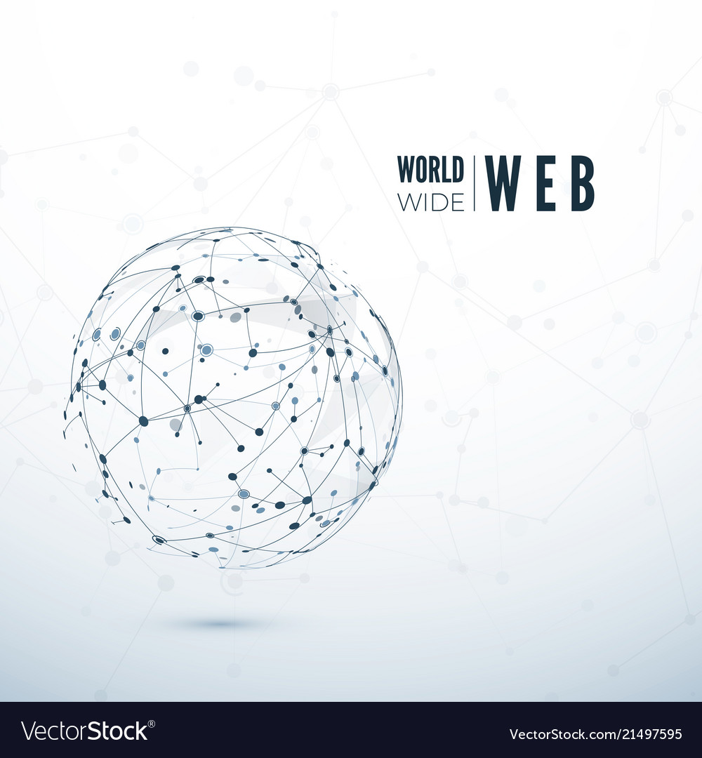 World wide web global data transfer concept