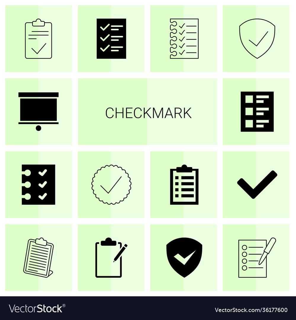 14 checkmark icons