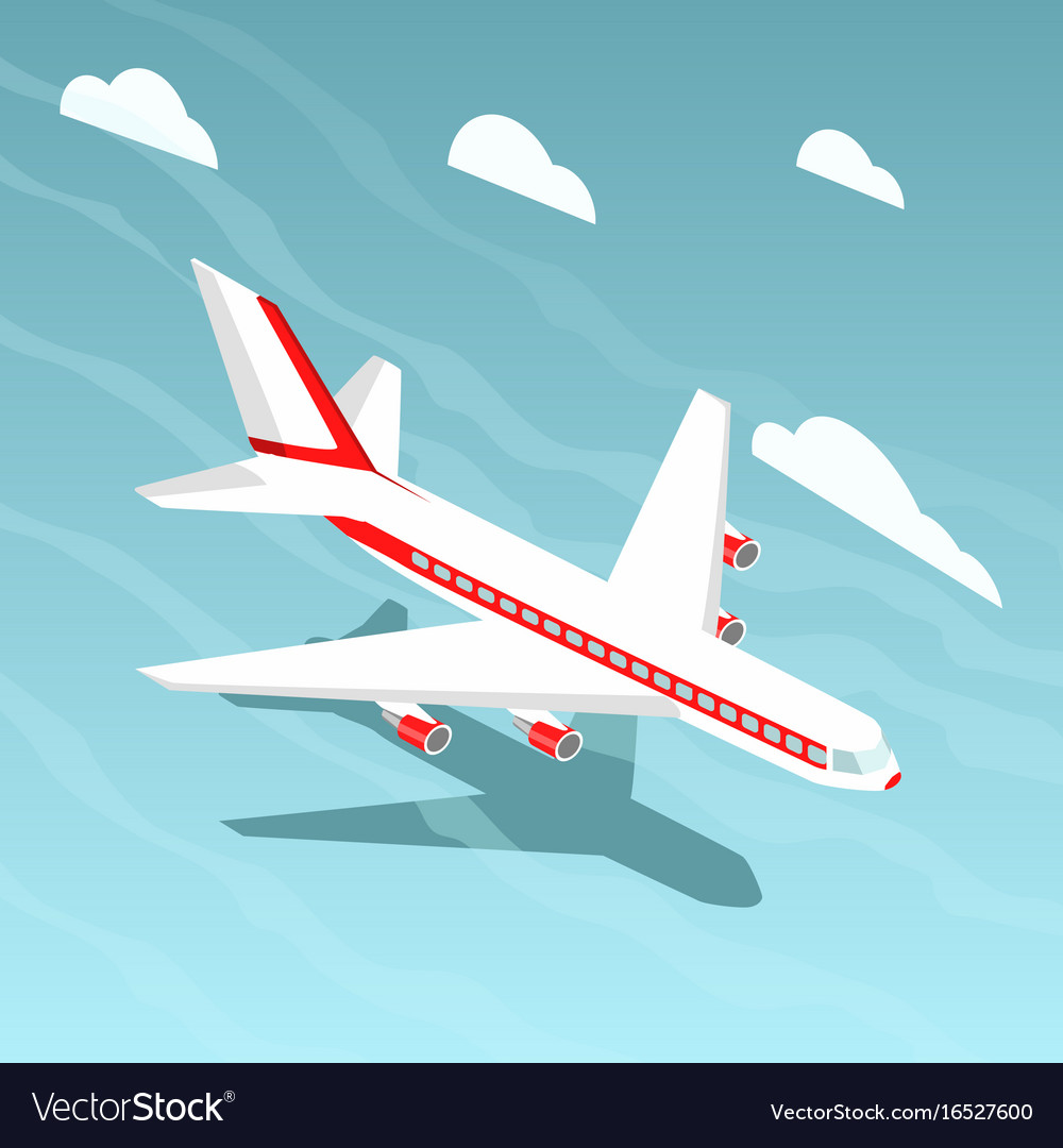 Airplane isometric style