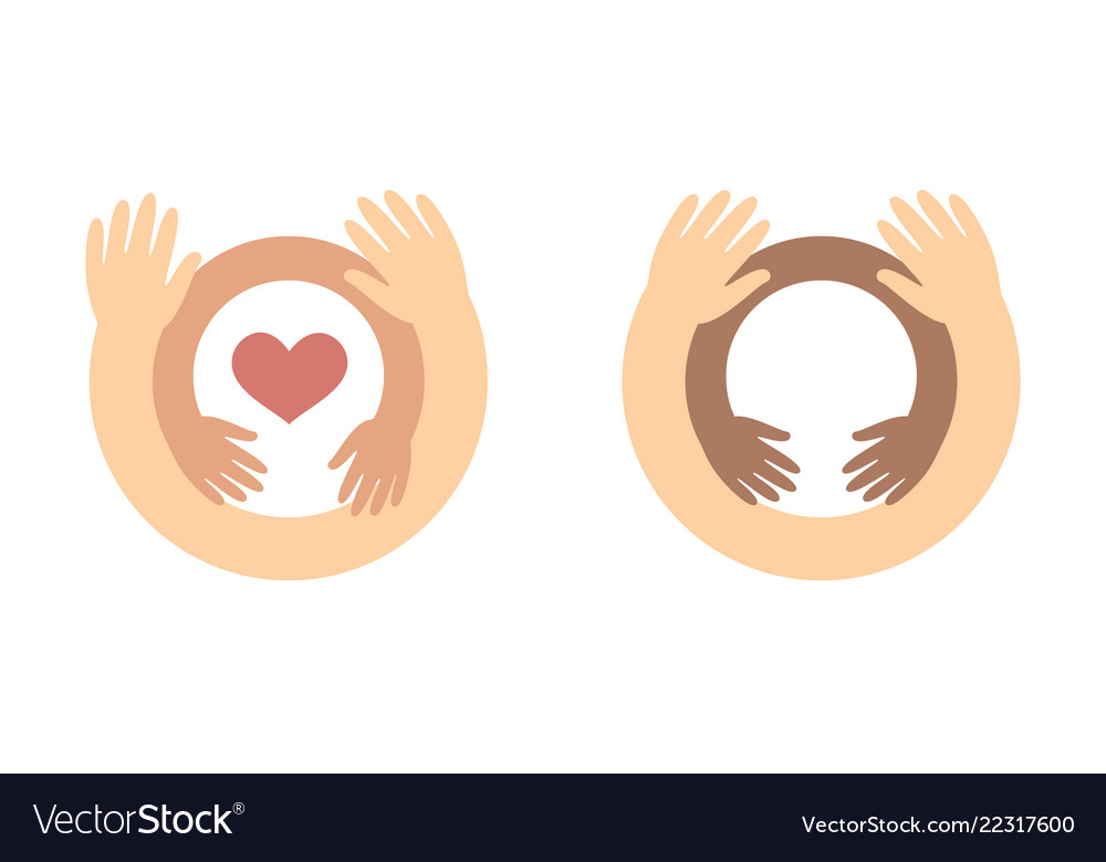 Childrens day logo concept - baby hands inside